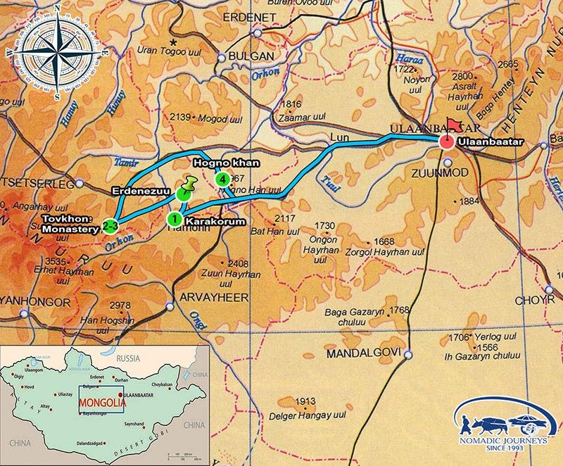 karakorum map